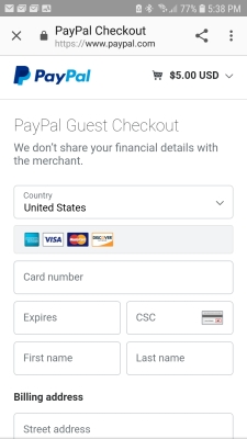 Picture of Guest checkout